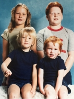 My cousins and my brother. My Nan had this photo on everything from keyrings to her mantle